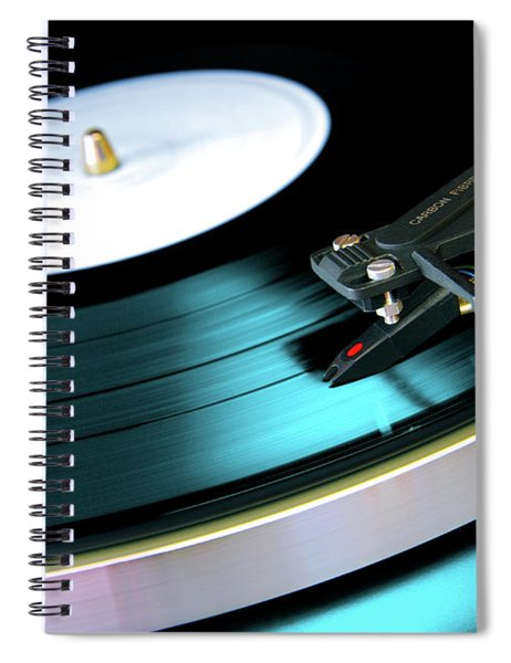 Vinyl Record Spiral Notebook