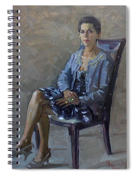 Viola In A Black And White Dress Spiral Notebook
