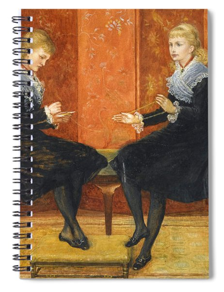 Violet And Lily The Daughters Of Edmund Routledge Spiral Notebook