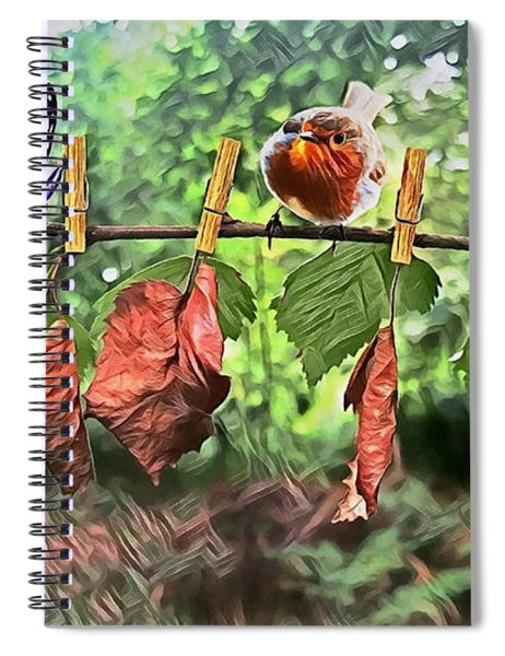 Violet And Robin Spiral Notebook