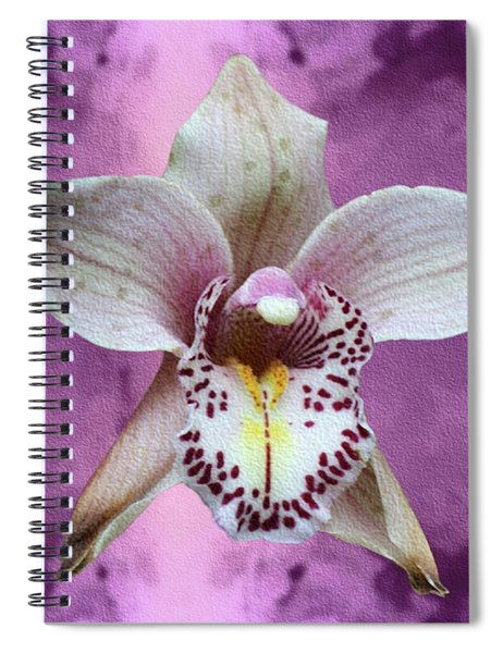 Violet Colored Lauritzen Orchid Spiral Notebook