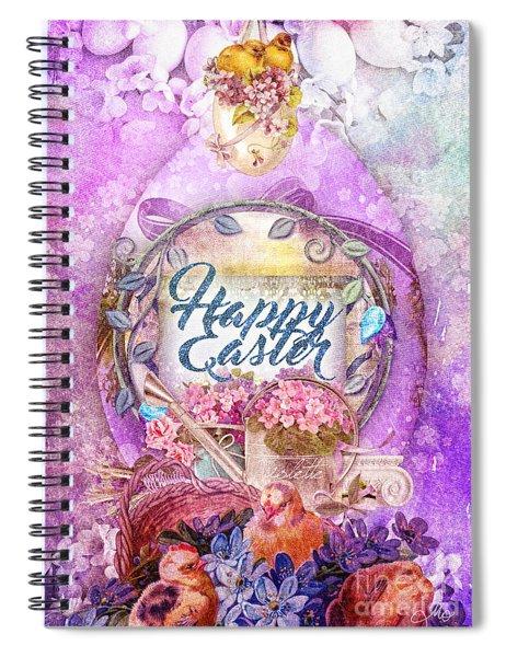 Violet Easter Spiral Notebook