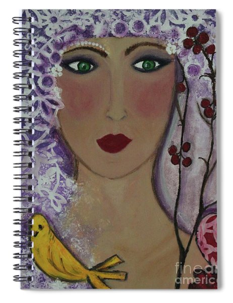Violet Queen Spiral Notebook