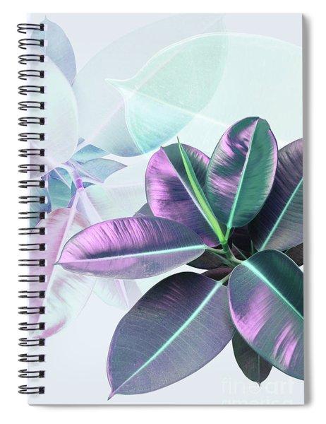 Violet Rubber Plant Spiral Notebook