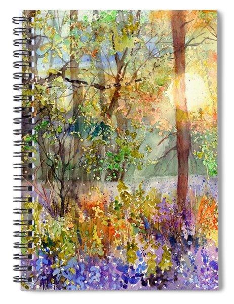 Violet Sunrise Spiral Notebook