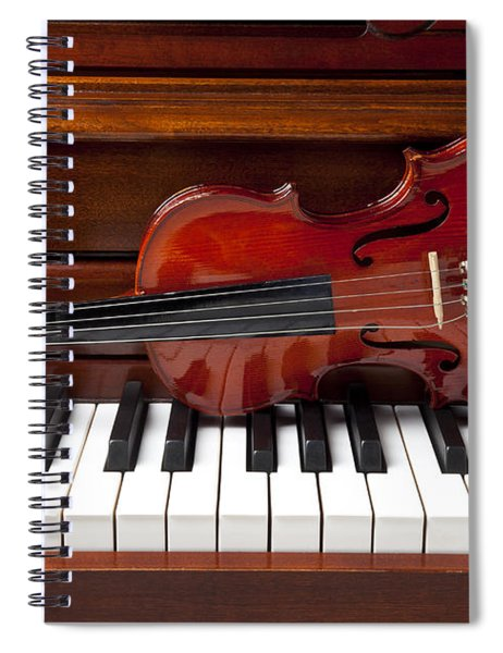 Violin On Piano Spiral Notebook