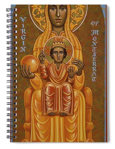 Virgin Of Montserrat - Black Madonna - Jcvom Spiral Notebook