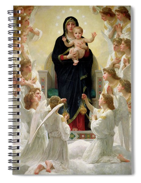 The Virgin With Angels Spiral Notebook