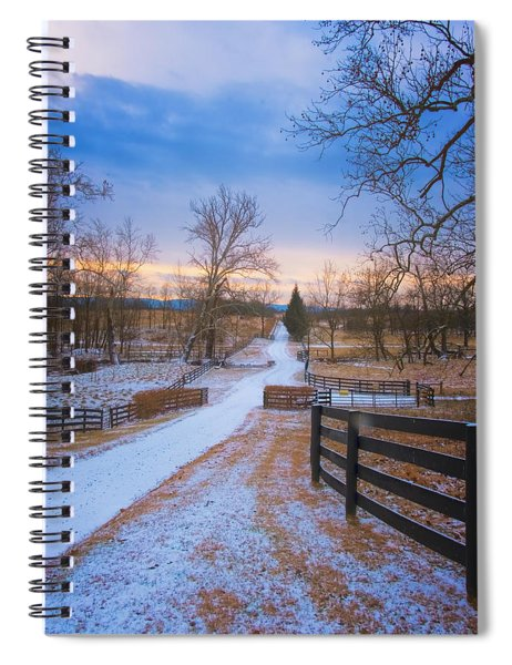 Virginia Country Lane Spiral Notebook