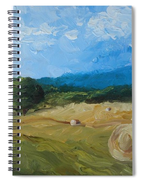 Virginia Hay Bales II Spiral Notebook