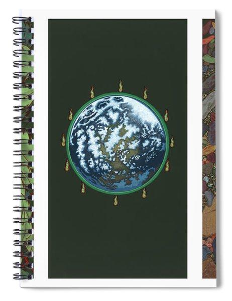 Viriditas Triptych Spiral Notebook