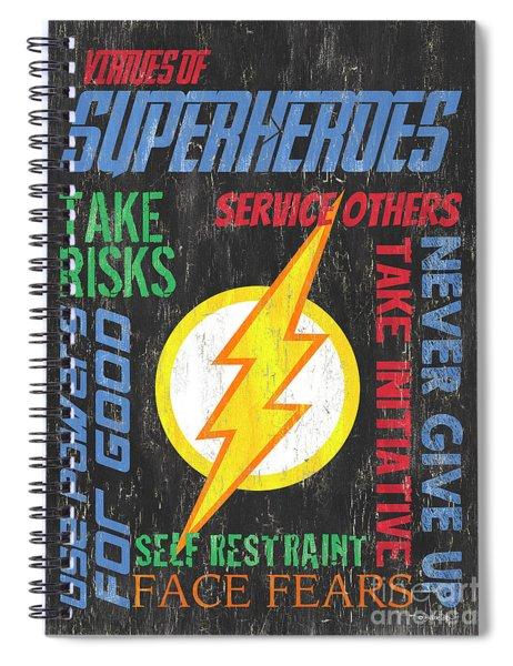 Virtues Of A Superhero 2 Spiral Notebook