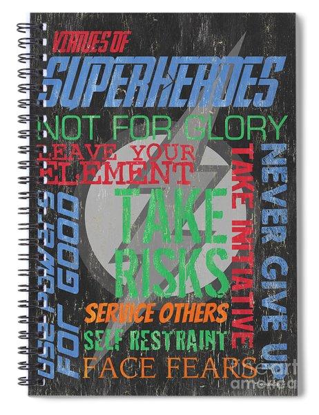 Virtues Of Superheroes Spiral Notebook