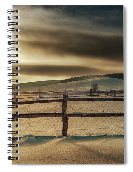Visions Of Sun Snow Spiral Notebook