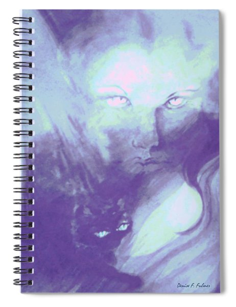 Visions Of The Night Spiral Notebook