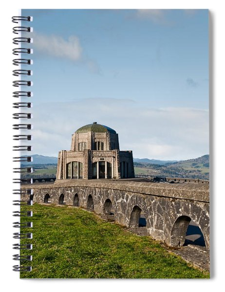 Vista House At Crown Point Spiral Notebook