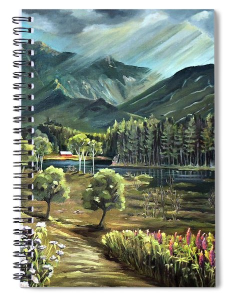 Vista View Of Cannon Mountain Spiral Notebook