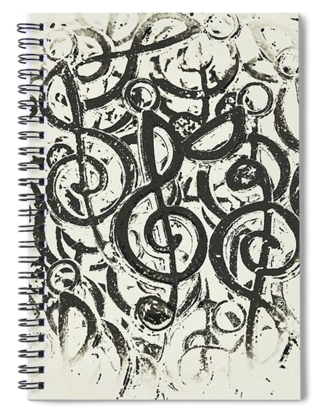 Visual Noise Spiral Notebook