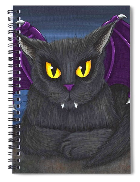 Vlad Vampire Cat Spiral Notebook