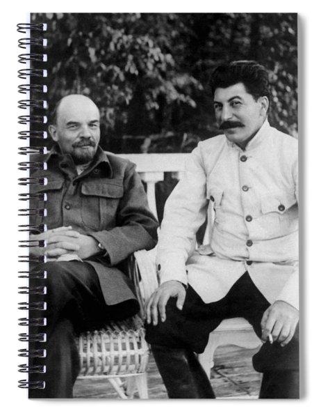 Vladimir Lenin And Joseph Stalin - Gorki - 1922 Spiral Notebook