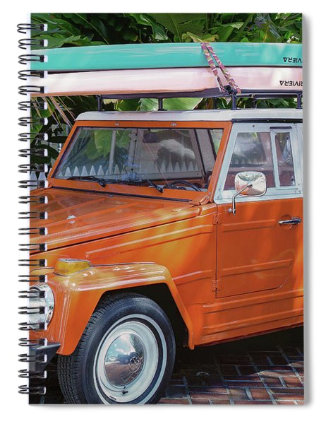 Spiral Notebook featuring the photograph Volkswagen And Surfboards by Robert Bellomy