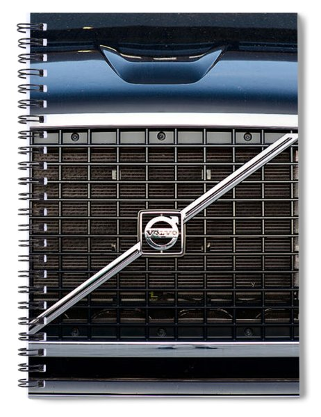 Volvo Blk And Silver Spiral Notebook
