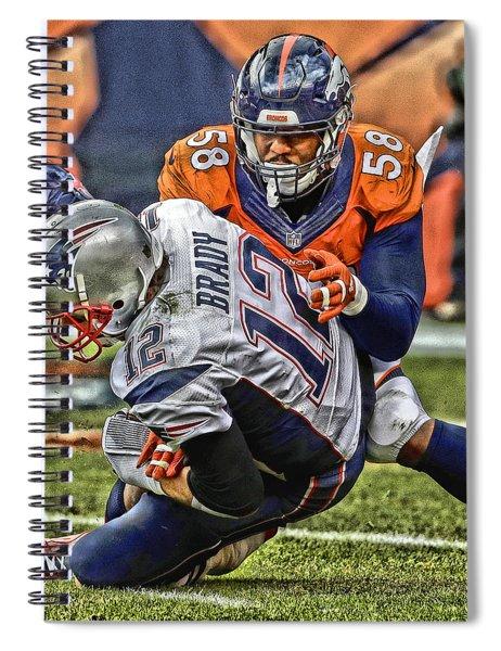 Von Miller Denver Broncos Art Spiral Notebook