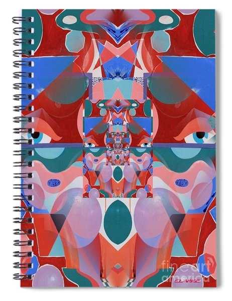 Abstract Vortex In Red Spiral Notebook