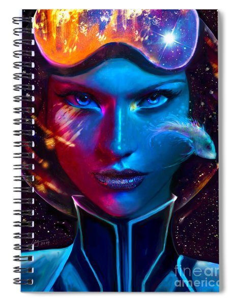 Voyager Beyond The Clouds Spiral Notebook