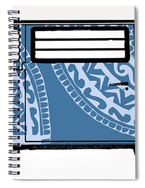 Vw Blue Van Spiral Notebook