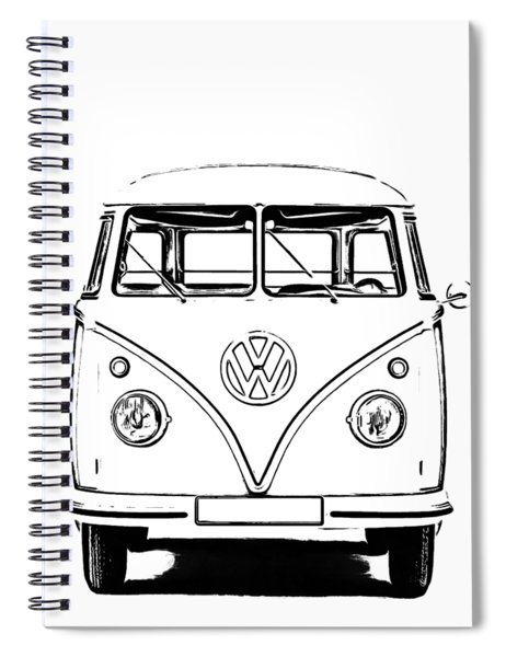 Spiral Notebook featuring the photograph Bus  by Edward Fielding