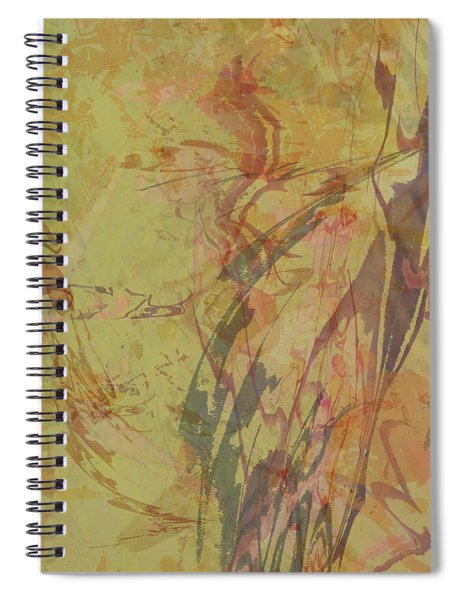 Wabi Sabi Ikebana Rose On Yellow Green Spiral Notebook