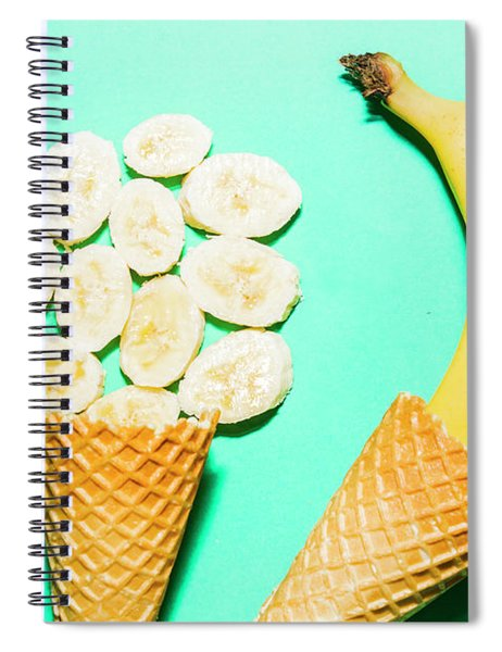 Waffle Cones With Fresh Banana Spiral Notebook