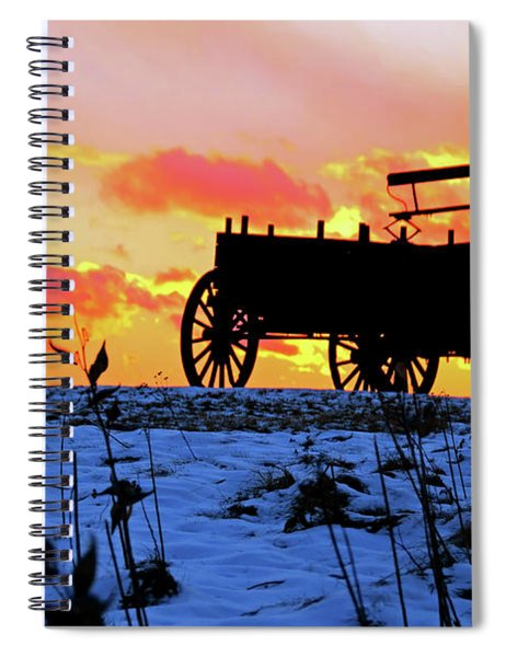 Wagon Hill At Sunset Spiral Notebook