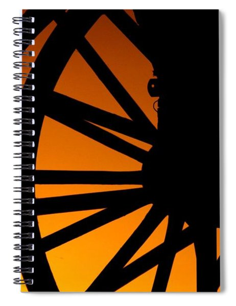 Wagon Wheel Sunset Spiral Notebook