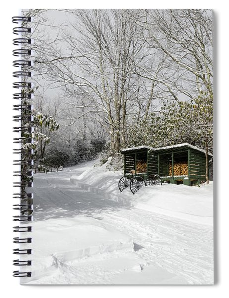 Wagon Wheels And Firewood Spiral Notebook