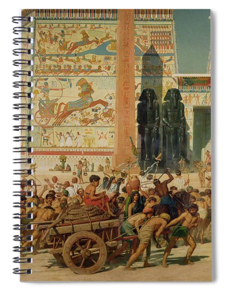 Wagons Detail From Israel In Egypt Spiral Notebook
