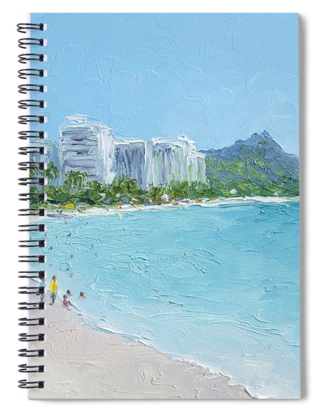 Waikiki Beach Honolulu Hawaii Spiral Notebook