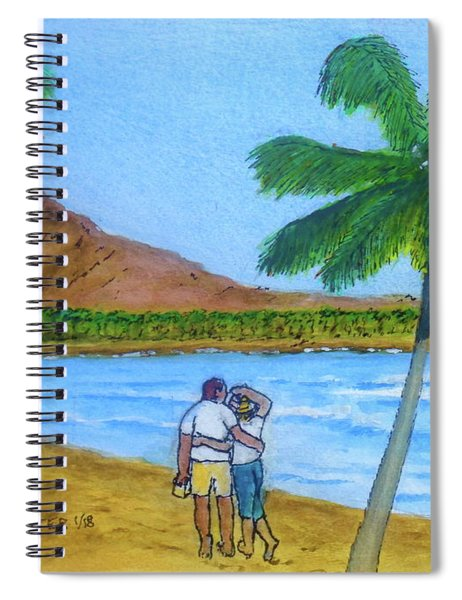Waikiki To Diamond Head Honolulu Spiral Notebook