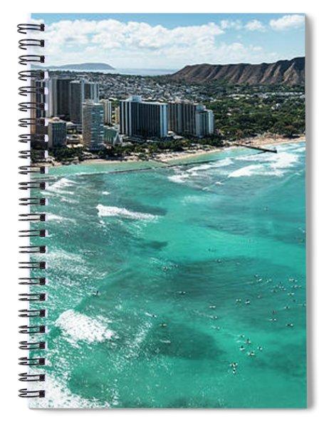 Waikiki To Diamond Head Spiral Notebook