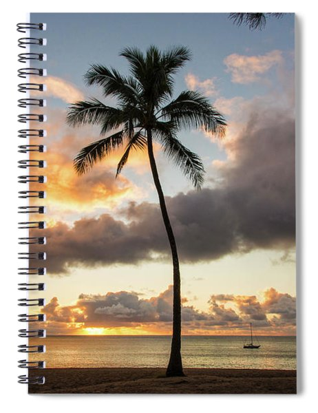 Waimea Beach Sunset - Oahu Hawaii Spiral Notebook