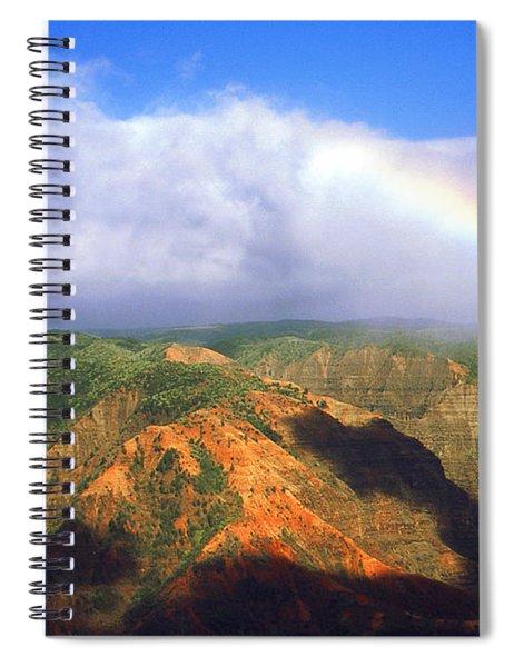 Kauai Hawaii - Waimea Canyon Rainbow Spiral Notebook