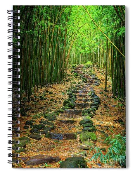 Waimoku Bamboo Forest #2 Spiral Notebook