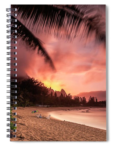 Wainiha Kauai Hawaii Bali Hai Sunset Spiral Notebook