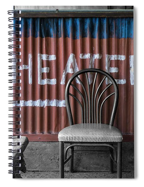 Corrugated Metal Theater Sign Spiral Notebook
