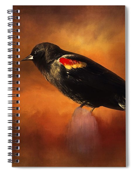Waiting - Bird Art Spiral Notebook