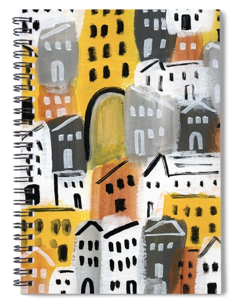 Waiting For Autumn- Expressionist Art Spiral Notebook