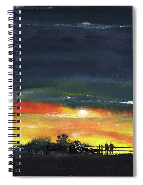 Waiting For Monsoon Spiral Notebook
