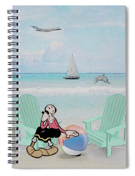 Waiting For Popeye Spiral Notebook