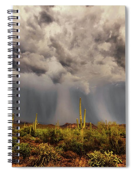 Waiting For Rain Spiral Notebook
